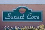 sign for Sunset Cove