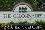 sign for The Colonnades